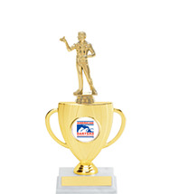 "12 1/2"" Silhouette Cup Trophy with ADA Emblem and Figure"