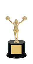 "DINN DEAL! 8"" Black Acrylic All Star Trophy"