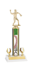 "Baseball Trophy - 12-14"" 2 Eagle Trophy"