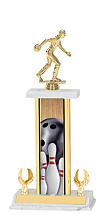 "Bowling Trophy - 14-16"" 2 Eagle Trophy"