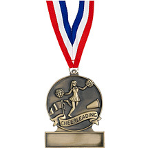 "2 3/4"" Cheerleading Cast Medal"