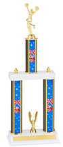 "Cheer Trophy - 20"" Three Column Trophy"