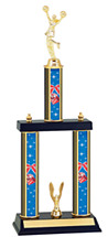 "18-20"" Three Column Cheer Trophy"