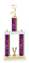 "Dance Trophy - 18 - 20"" 3 Column Trophy"