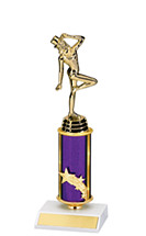"Dance Trophy - 10 1/2"" Dance Trophy with Purple Column"
