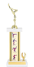 "13-15"" Gymnastics Trophy with 1 Eagle Base"