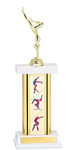 "12-14"" Rectangular Column Gymnastics Trophy"