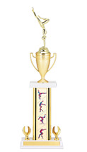 "19-21"" Rectangular Gymnastics Column Trophy & Cup"