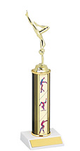 "10-12"" Gymnastics Round Column Trophy"