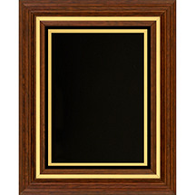 "11 1/2 x 13 1/2"" Classic Plaque with Black Felt Border"