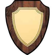 "5 1/2 x 6 1/2"" Shield-Shaped Plaque"