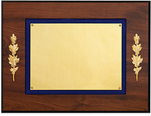 "12 x 9"" Plaque with Blue Felt Trim"