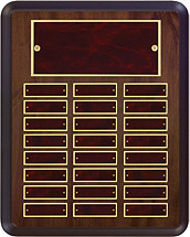 "12 x 15"" Burgundy  Perpetual Plaque - 24 Nameplates"