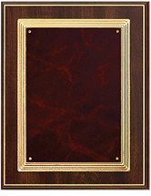 "8 x 10"" Gold-Trimmed Burgundy Plaque"