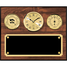 "10 x 12"" Barometer, Clock, & Thermometer Plaque"