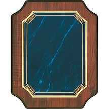 "Topaz Blue 7 x 9 - 8 x 10"" Half Moon Corners Plaque"