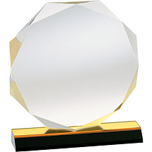 "6 x 6 - 8 x 8"" Octagonal Acrylic Award"