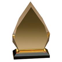 "6 x 8"" Flame Acrylic Award"