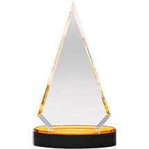 "3 3/4 x 6 3/4"" Triangle Sleek and Slender Diamond Lucite Award"