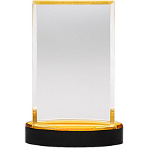 "4 x 5 1/2"" Sleek and Slender Classic Lucite Award"