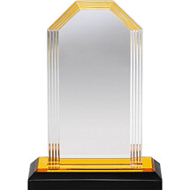 "5 1/2 x 7 1/2"" Sleek and Slender Lucite Award"