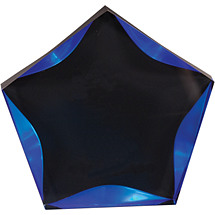 "5"" Luminary Star Award - Blue with Black Plate"