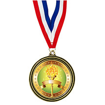 "2 1/2"" Large Medal with Emblem & 30"" Neck Ribbon"