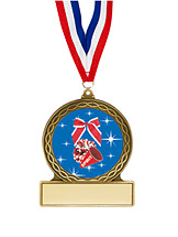 "2 3/4"" Cheer Medal with Ribbon"