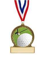 "Golf Medal - 2 3/4"""