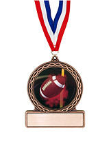 "2 3/4"" Football Medal of Triumph"