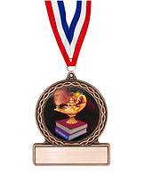 "2 3/4"" Lamp of Learning Medal of Triumph"