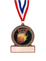 "2 3/4"" Basketball Medal of Triumph"
