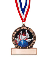 "2 3/4"" Bowling Medal of Triumph"
