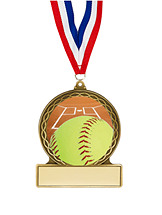 Softball Medal - 2 3/4""