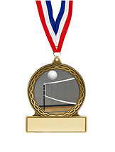 Volleyball Medal - 2 3/4""