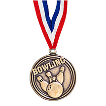 "2"" Bowling Medal with 30"" Ribbon"