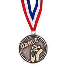 "Dance Medals - 2"" Dance Medal with Ribbon"