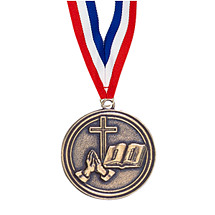"2"" Religious Medal with Ribbon"