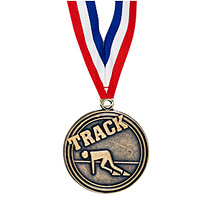 "2"" Track Medal with Ribbon"