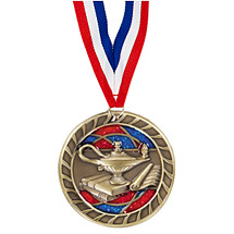 Education Glitter Medal - 2 1/2""