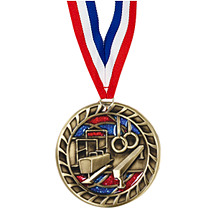 "Gymnastics Glitter Medal - 2 1/2"""