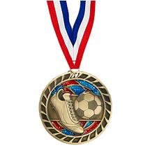 """Soccer Glitter Medal - 2 1/2"""""""