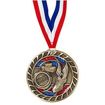 """Track Glitter Medal - 2 1/2"""""""