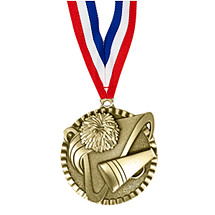 "2"" Cheerleading Victorious Medal with Ribbon"