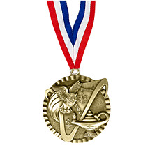 "2"" Knowledge Victorious Medal with Ribbon"