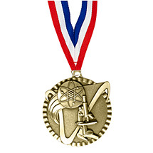 "2"" Science Victorious Medal with Ribbon"