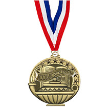 "2"" Academic Excellence Medal with 30 in. Neck Ribbon"
