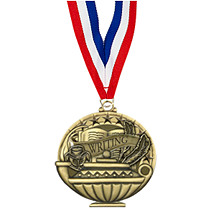 "2"" Writing Medal with 30 in. Neck Ribbon"