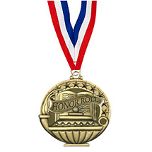 "2"" Honor Roll Medal with 30 in. Neck Ribbon"