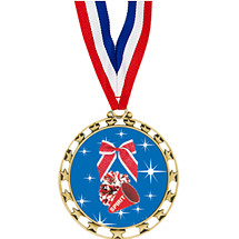 """2 1/2"""" Sports Star Series Medal - Cheerleading - with 30"""" Neck Ribbon"""
